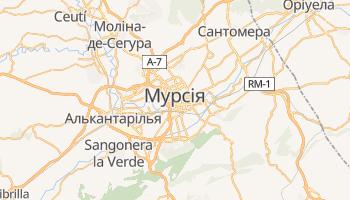Мурсія - детальна мапа