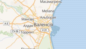 Валенсія - детальна мапа