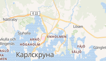 Карлскруна - детальна мапа