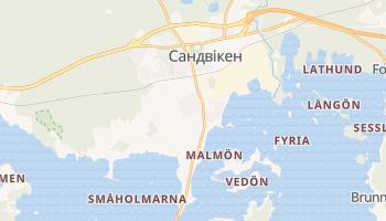 Сандвікен - детальна мапа