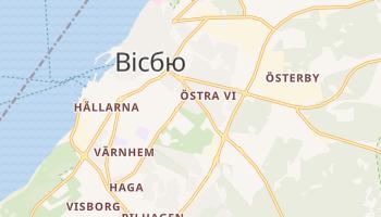 Вісбю - детальна мапа