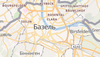 Базель - детальна мапа