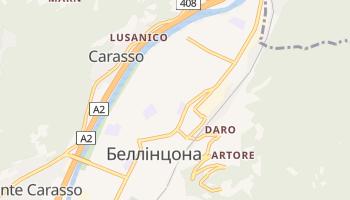 Беллінцона - детальна мапа