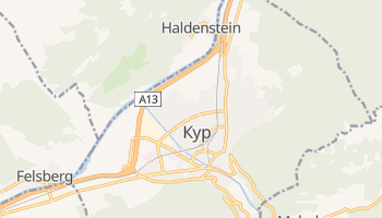Кур - детальна мапа