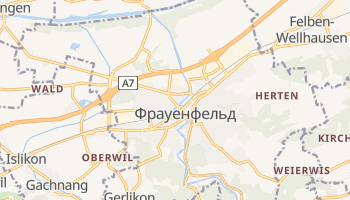 Фрауенфельд - детальна мапа