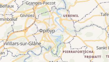 Фрібур - детальна мапа