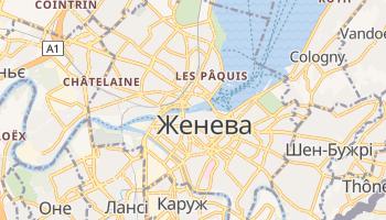 Женева - детальна мапа