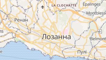 Лозанна - детальна мапа