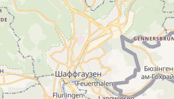 Шаффгаузен - детальна мапа
