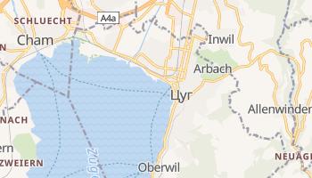 Цуг - детальна мапа