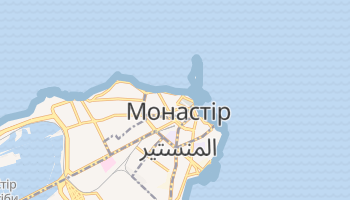 Монастір - детальна мапа