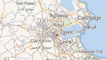 Туніс - детальна мапа