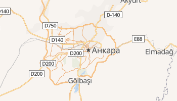 Анкара - детальна мапа