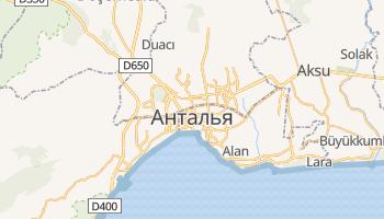 Анталія - детальна мапа