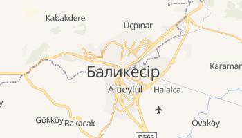 Баликесір - детальна мапа