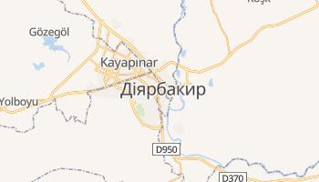 Діярбакир - детальна мапа