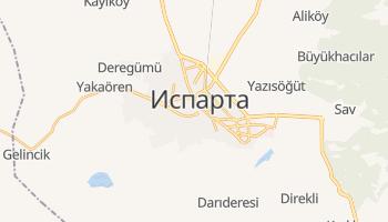 Испарта - детальна мапа