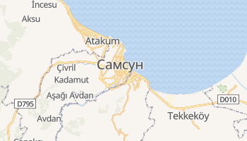Самсун - детальна мапа