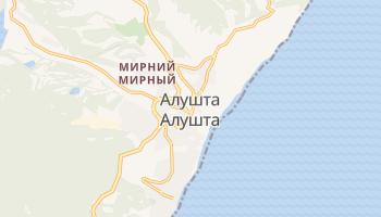 Алушта - детальна мапа