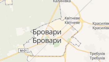Бровари - детальна мапа