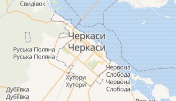 Черкаси - детальна мапа
