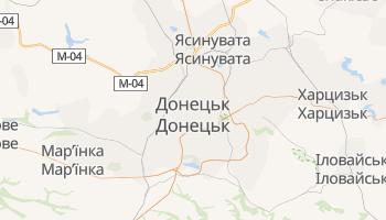 Донецьк - детальна мапа