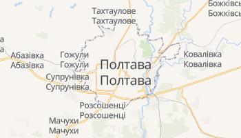 Полтава - детальна мапа
