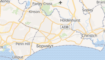 Борнмут - детальна мапа