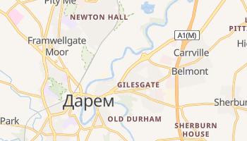 Дарем - детальна мапа