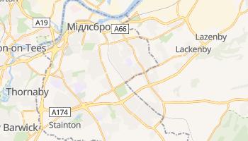 Мідлсбро - детальна мапа