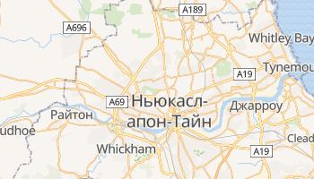 Ньюкасл-апон-Тайн - детальна мапа