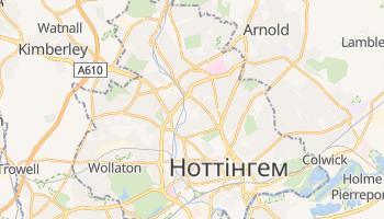 Ноттінгем - детальна мапа