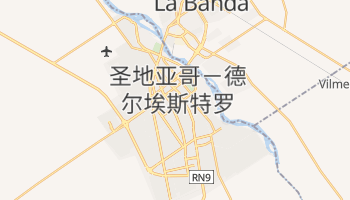 圣地亚哥-德尔埃斯特罗 - 在线地图