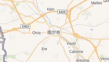 图尔奈 - 在线地图