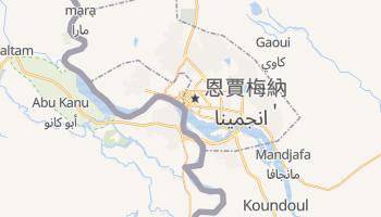 恩賈梅納 - 在线地图