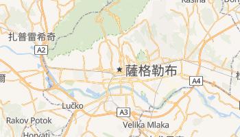 萨格勒布 - 在线地图