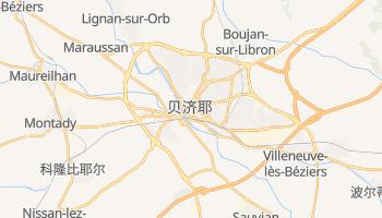 贝济耶 - 在线地图