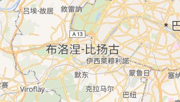 布洛涅-比扬古 - 在线地图