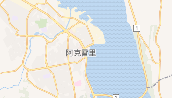 阿克雷里 - 在线地图