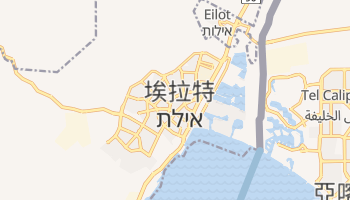埃拉特 - 在线地图