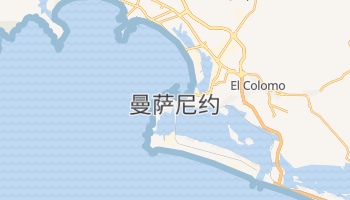 曼萨尼约 - 在线地图