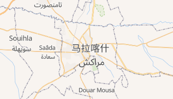 马拉喀什 - 在线地图