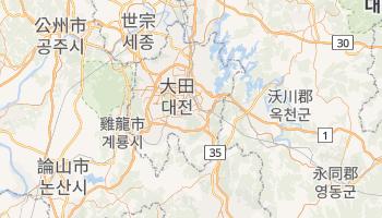 大田广域市 - 在线地图