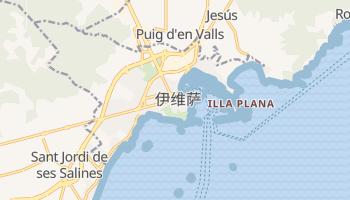 伊维萨岛 - 在线地图