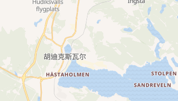 胡迪克斯瓦尔 - 在线地图
