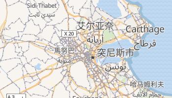 突尼斯 - 在线地图