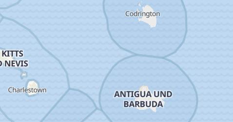 Karte von Antigua und Barbuda