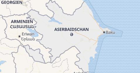 Karte von Aserbeidschan