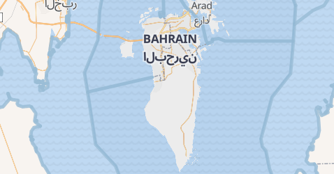 Karte von Bahrain
