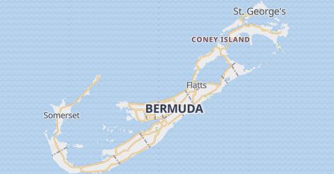 Karte von Bermuda, Großbritannien